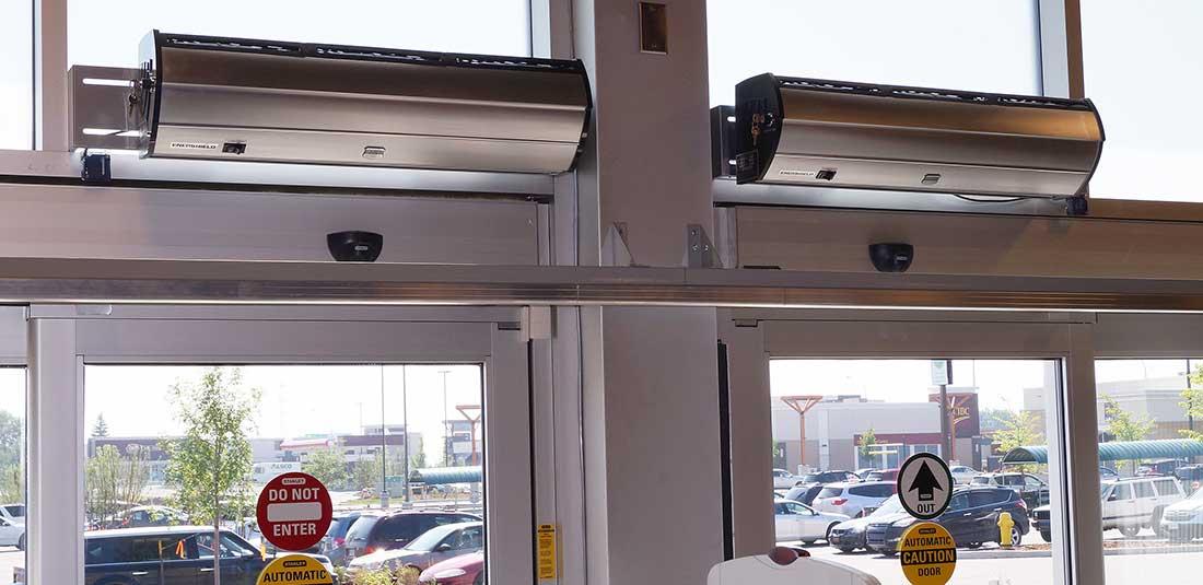 Cortinas de aire silenciosas marca enershield procoen - Cortinas de aire caliente ...